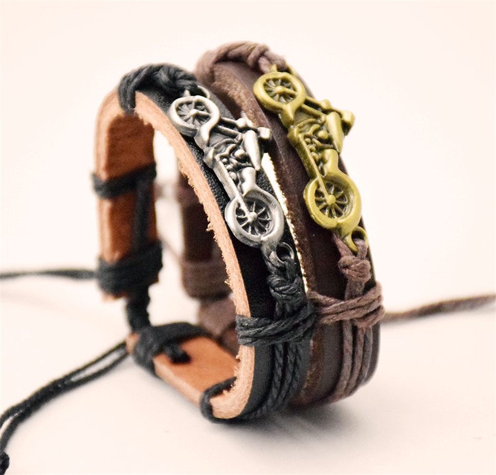 Motorcycle Motorcycle Leather Accessories Leather Bracelet Jewelry For Men