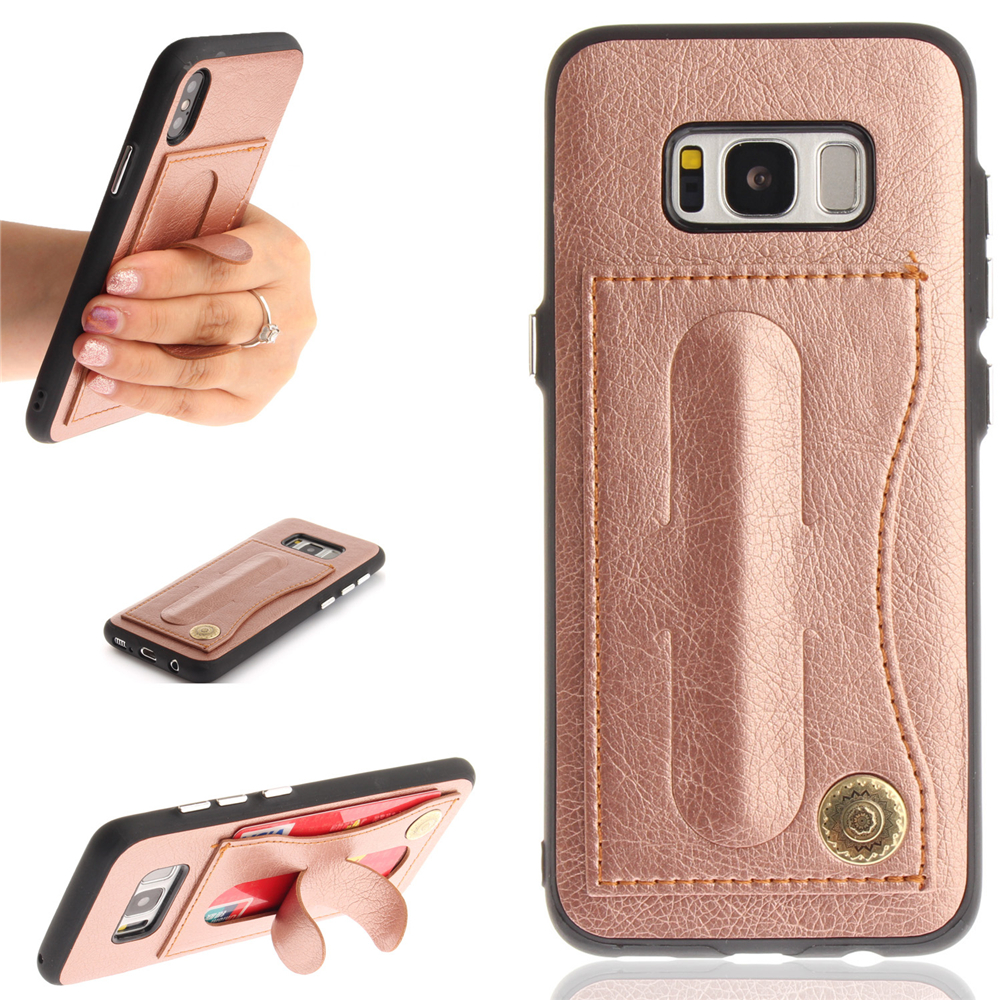 Leather Card Holder Phone Cases for Samsung Galaxy S8 Back Cover