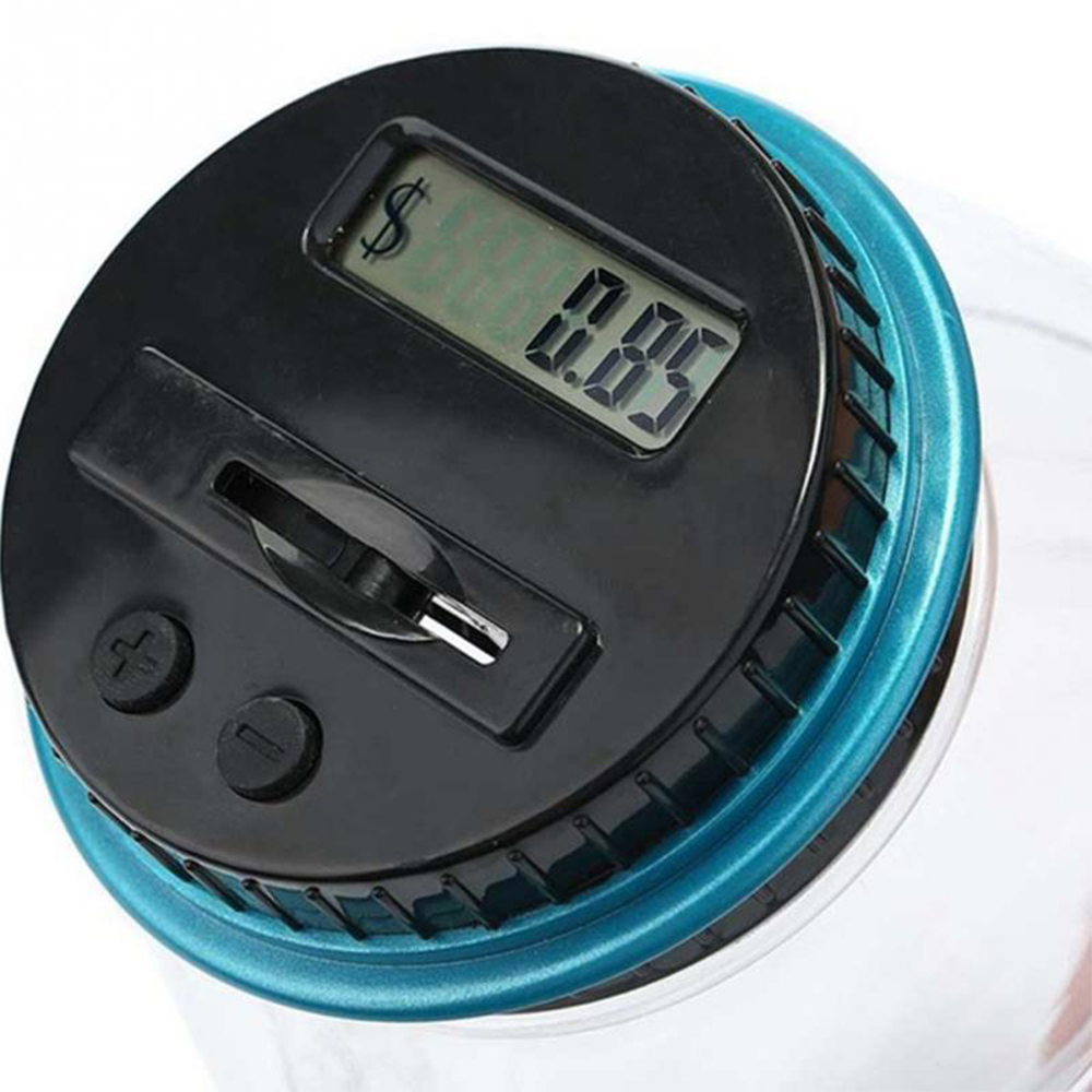 Money Boxes Digital Piggy Bank Coin Savings Dollar Counter LCD Counting Jar