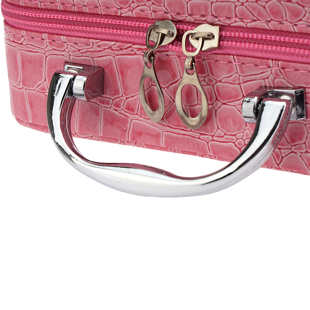Stone Pattern Portable Zipper Cosmetic Case