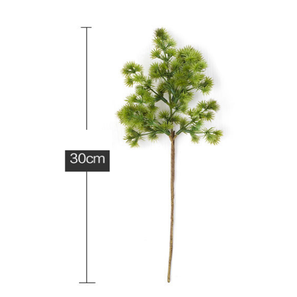 Short Branch Pine Needle Plastic Prop Artificial Flower