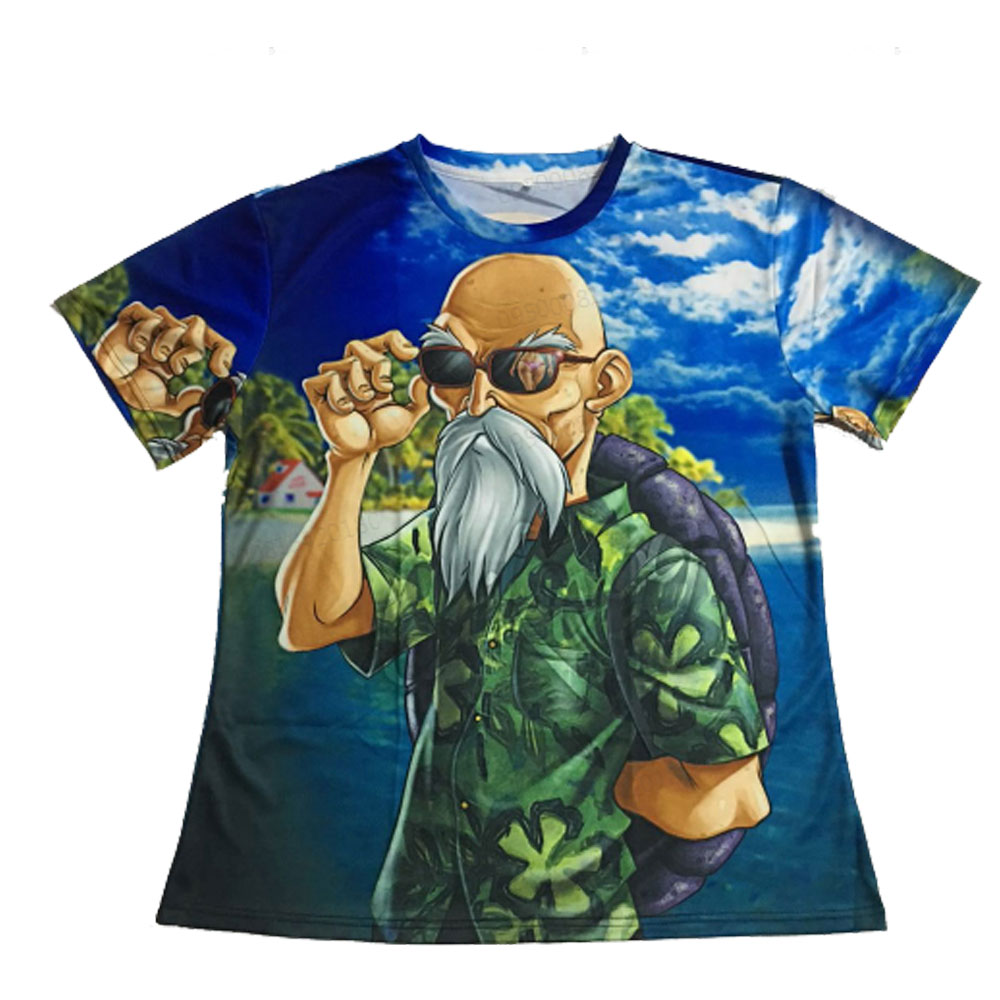 Summer Men's Short Sleeved Digital Printing 3D Beard Old Man T-Shirt