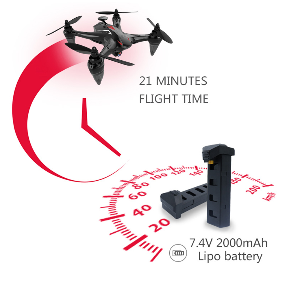 Brushless RC Drone RTF Signal Transmission / Automatic Follow / Altitude Hold