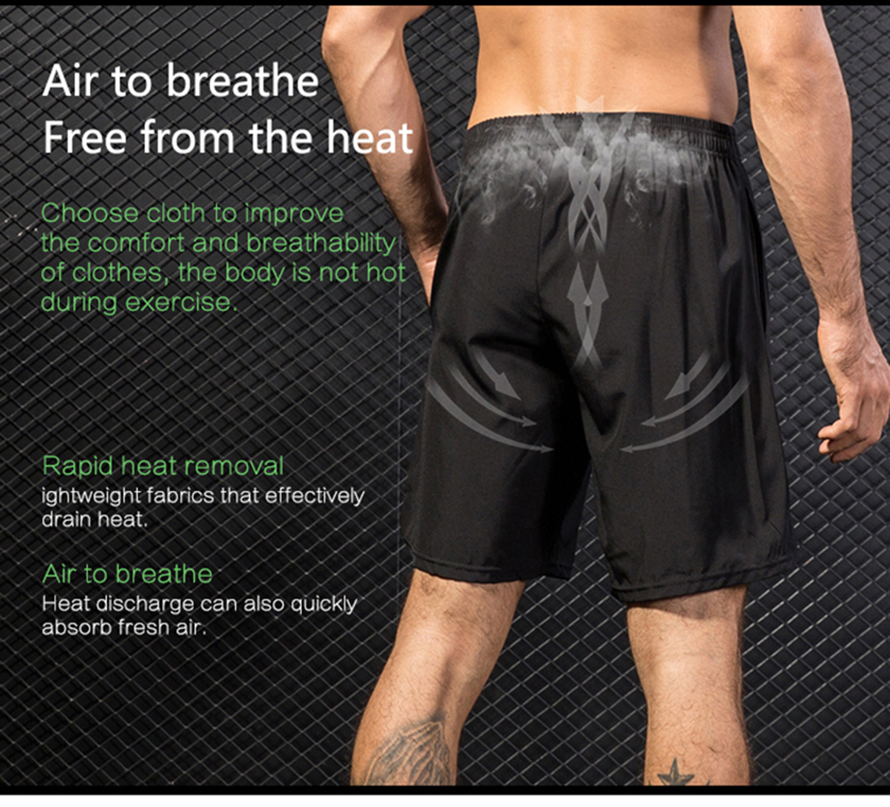 Men'S Run Shorts Fitness Quick Dry Breathable Leisure Beach Solid Sport Slacks
