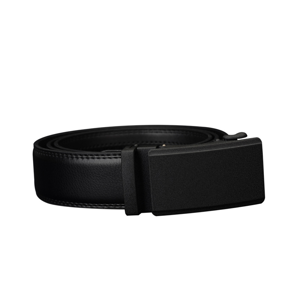 COWATHER Leather Automatic Ratchet Buckle Men's Belt
