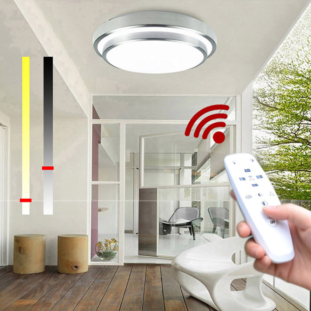 Led Ceiling Lights Change Color Temperature Lamp 40w Smart Crystal Rc Boat Groups Remote Control Dimmable Bedroom Living Room