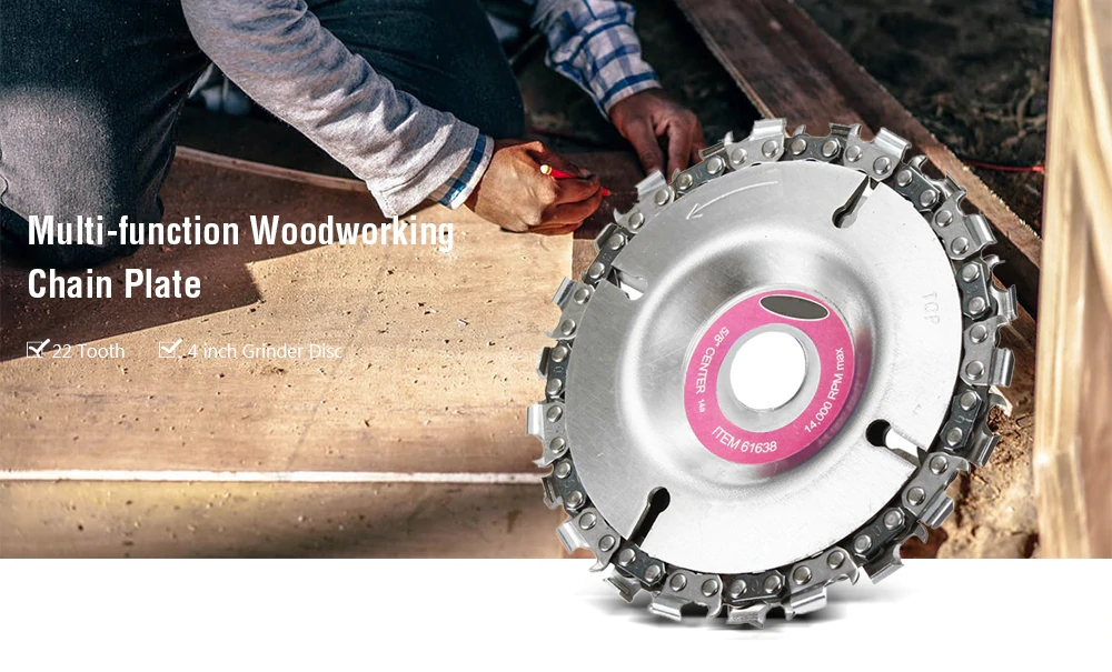 Grinder Wood Carving Disc For Angle Grinder 4 Inch 22 Tooth Fine Tool  Accessorie