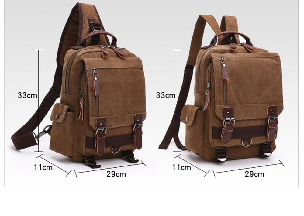 ZUOLUNDUO Men's And Women's Stylish Canvas Backpacks For Outdoor Travel