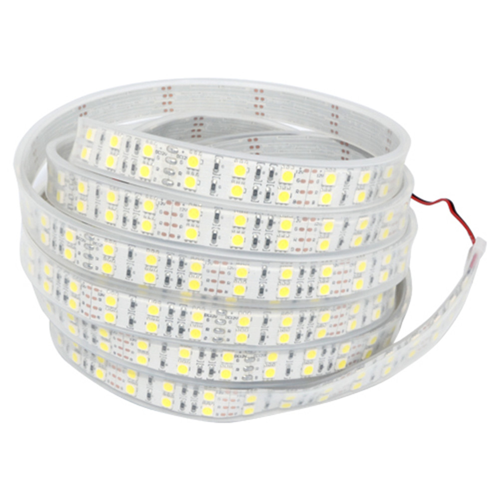 YWXLight 5M 5050 Waterproof Double Row LED Strip High Quality Flexible DC 12V