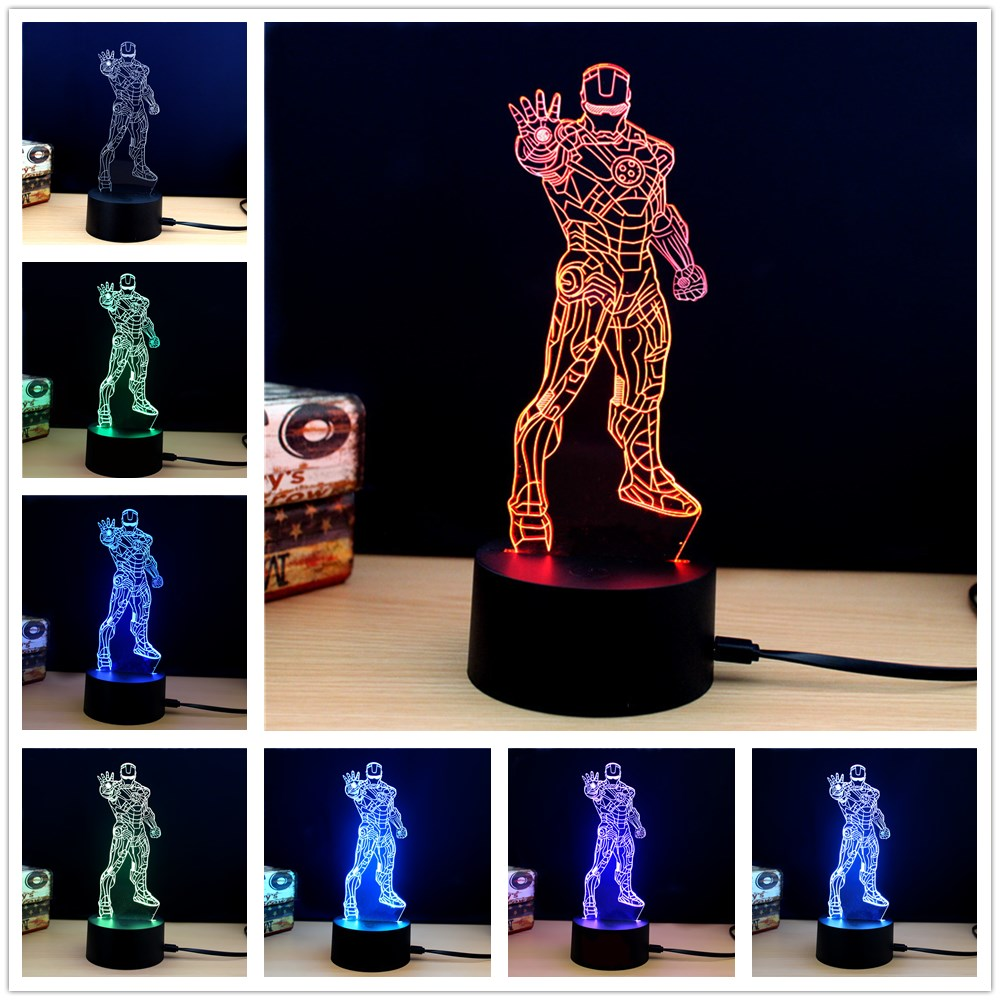 M.Sparkling TD269 Creative Superhero 3D LED Lamp