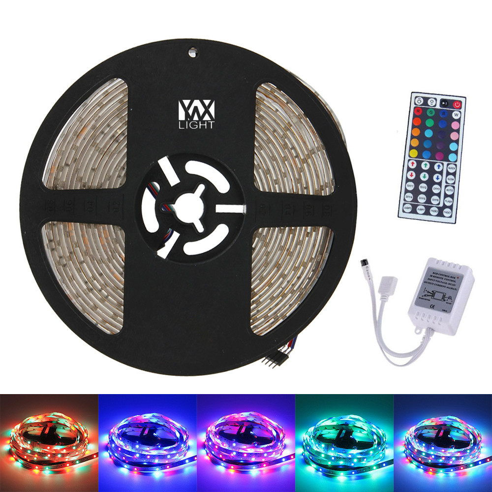 YWXLight 5M 300LED 3528SMD Waterproof 44Key Remote Control Flexible LED Light Strips ( DC 12V)