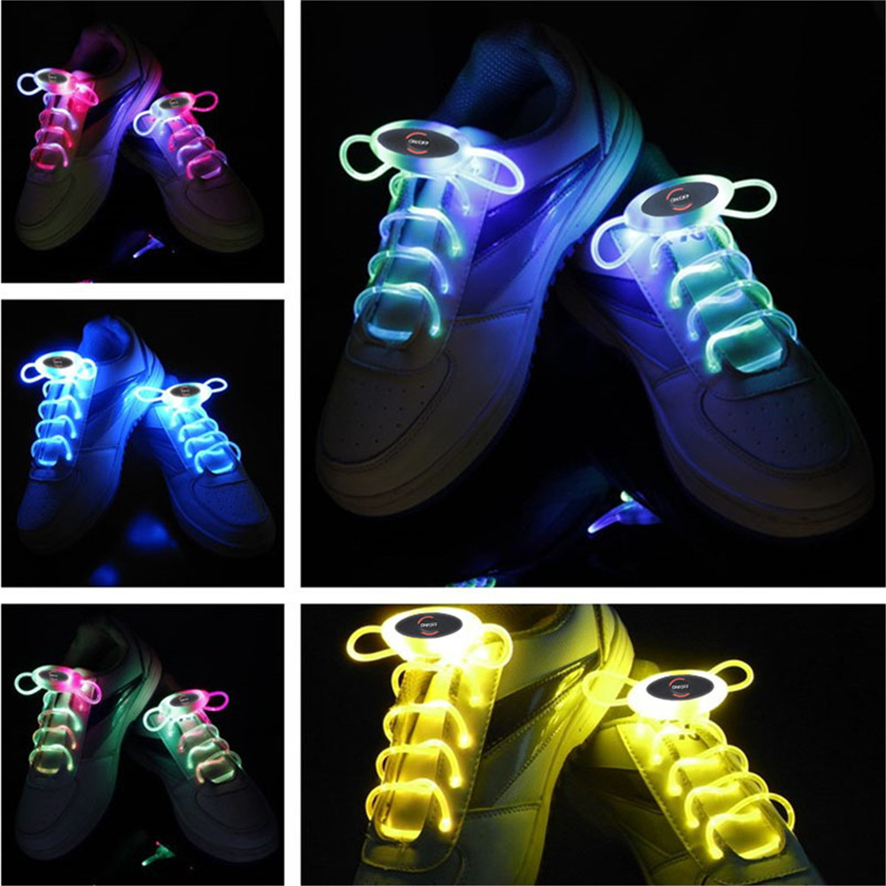 YWXLight Up LED Shoelaces Fashion Flash Disco Party Glowing Neon Shoelace