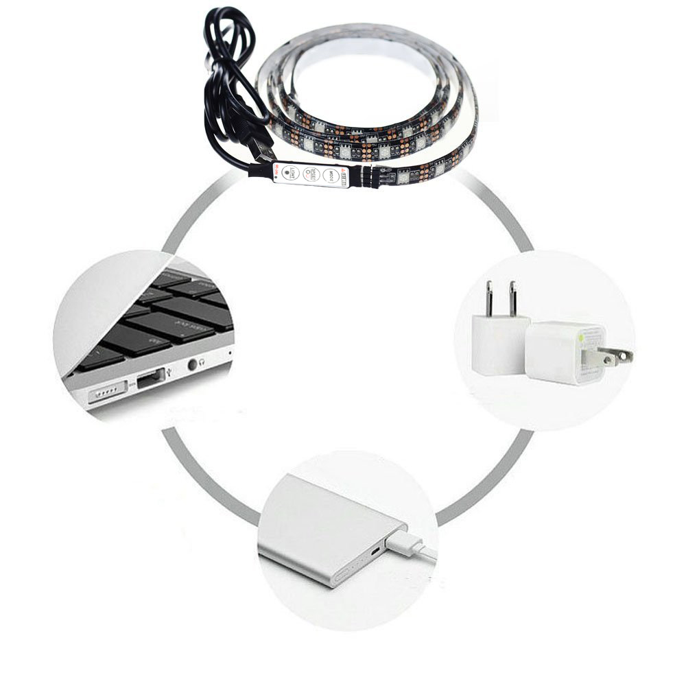 KWB 5V USB LED Strip light 5050 SMD Waterproof with RGB Controller
