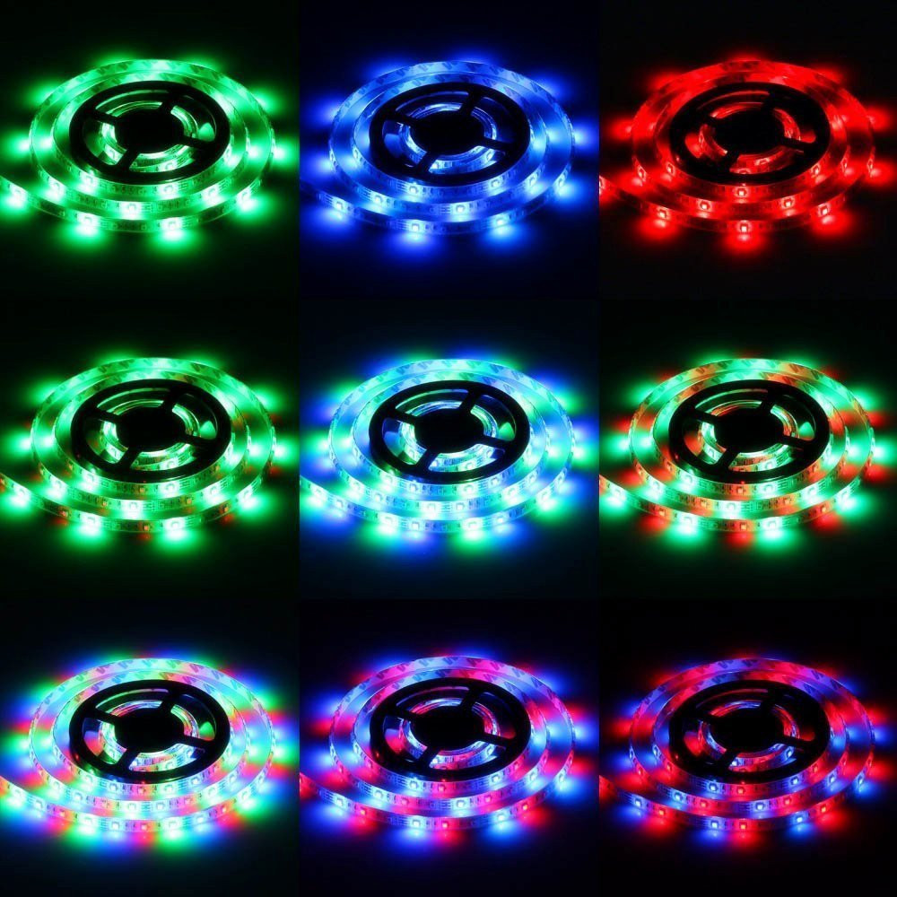 Kwb LED Strip Light 2835 RGB 300LEDs 10M with Remote + Adapter
