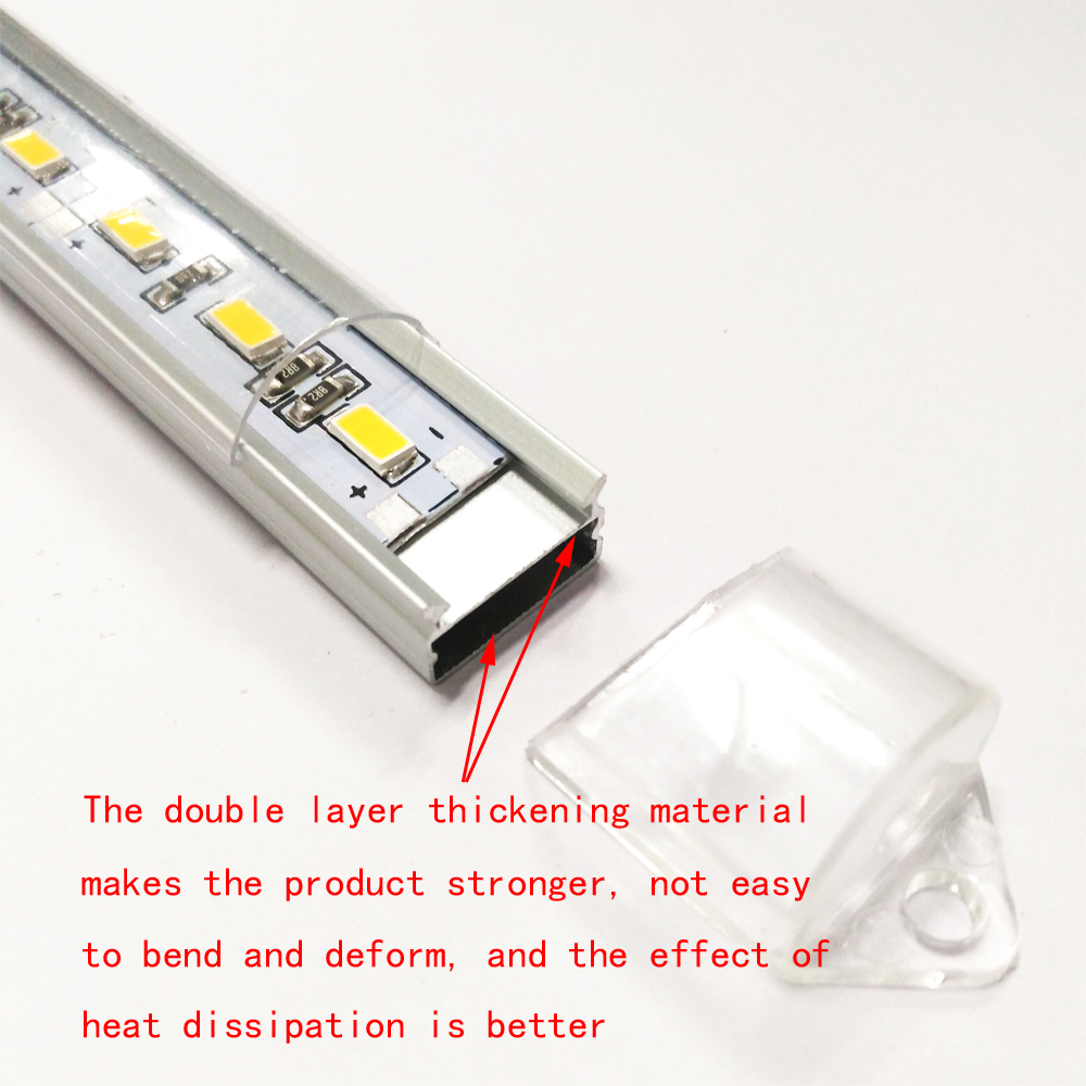 Zdm 50CM 10W 36PCS 8520 Smd 700-900LM Warm White / Cool White Light Led Strip Lamp (Dc12v / Dc24v)