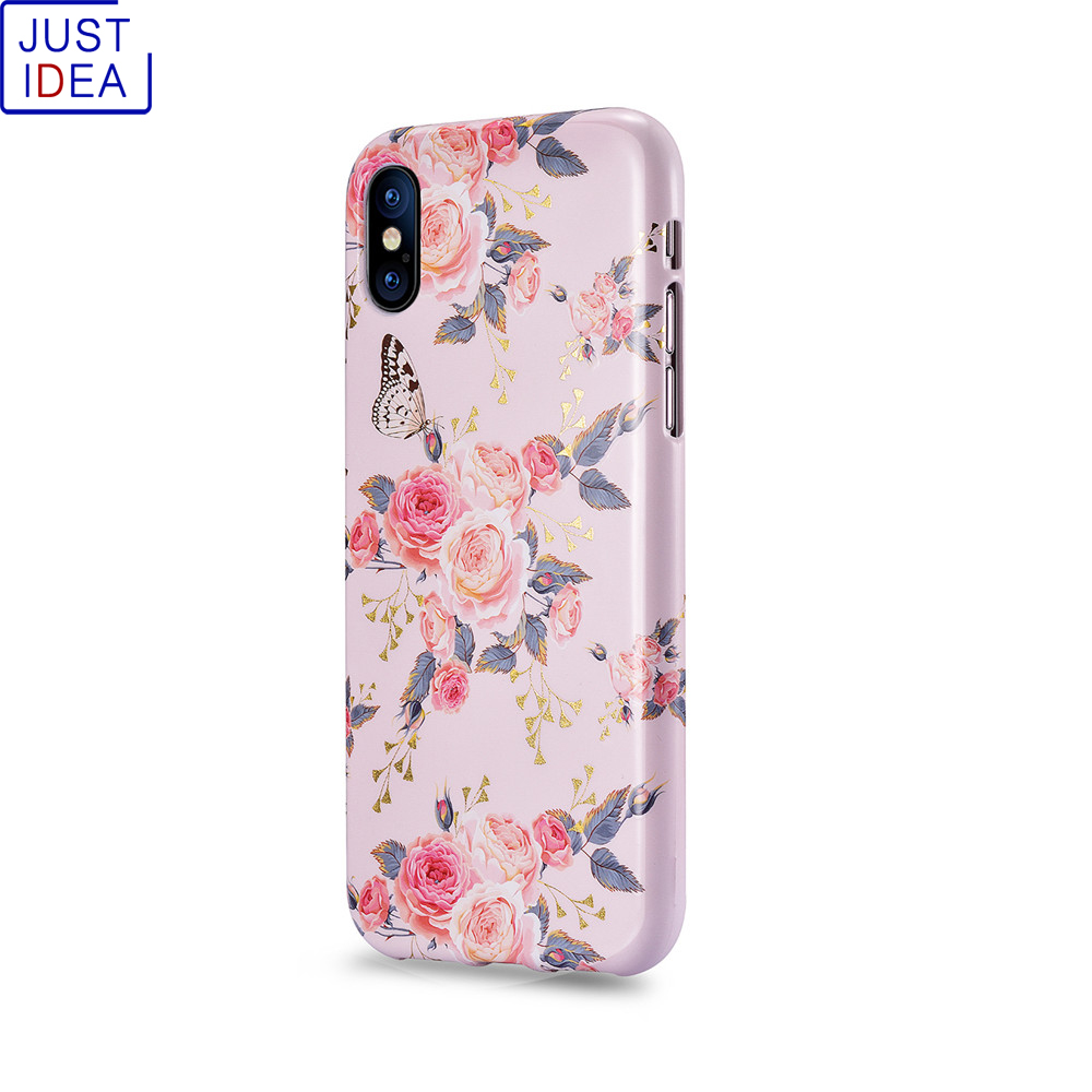JUST IDEA Phone Case for Iphone X TPU Full Protect  Cover Cases