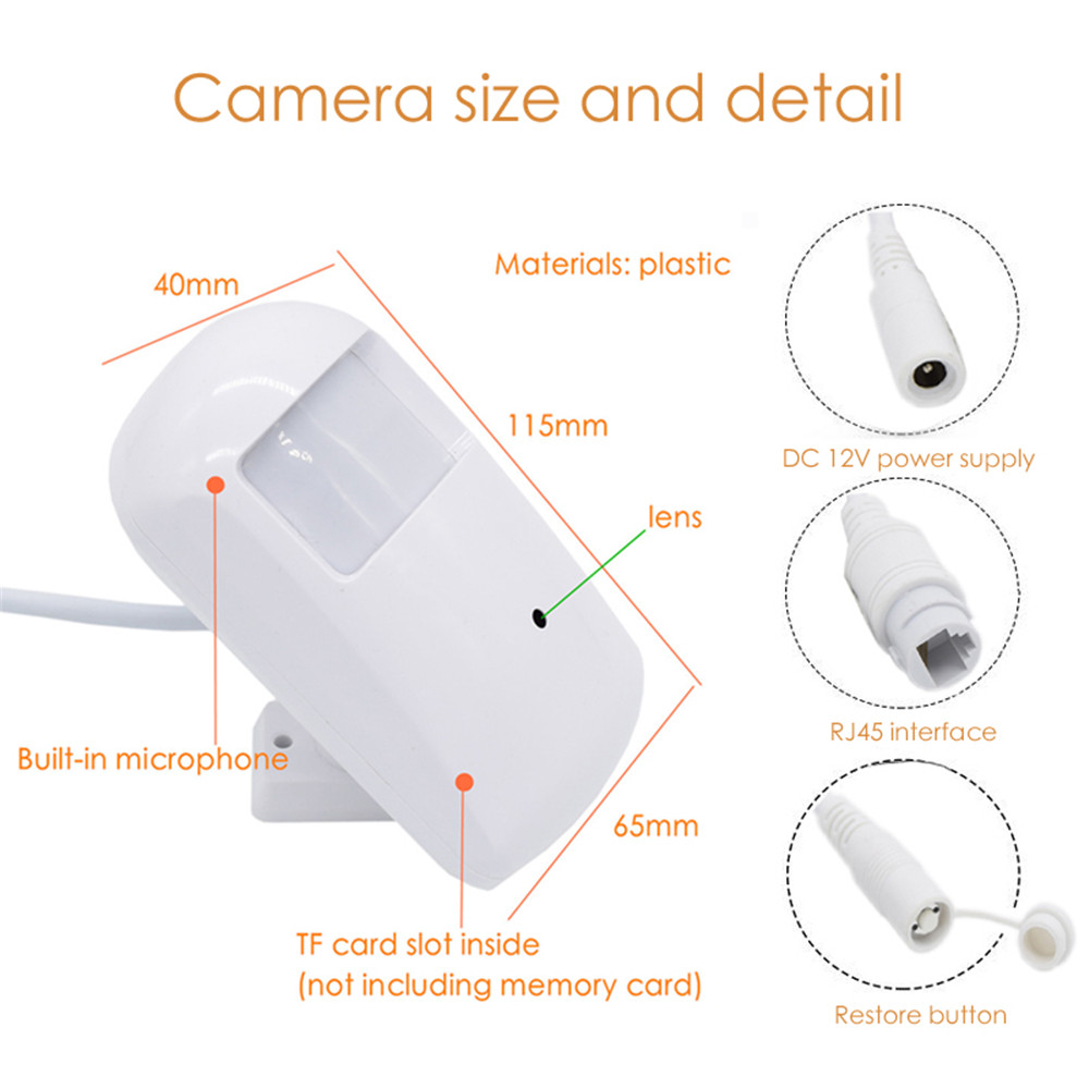 720P WiFi Audio WEB Mini IP Camera Indoor Built-In TF Card Slot CamHi