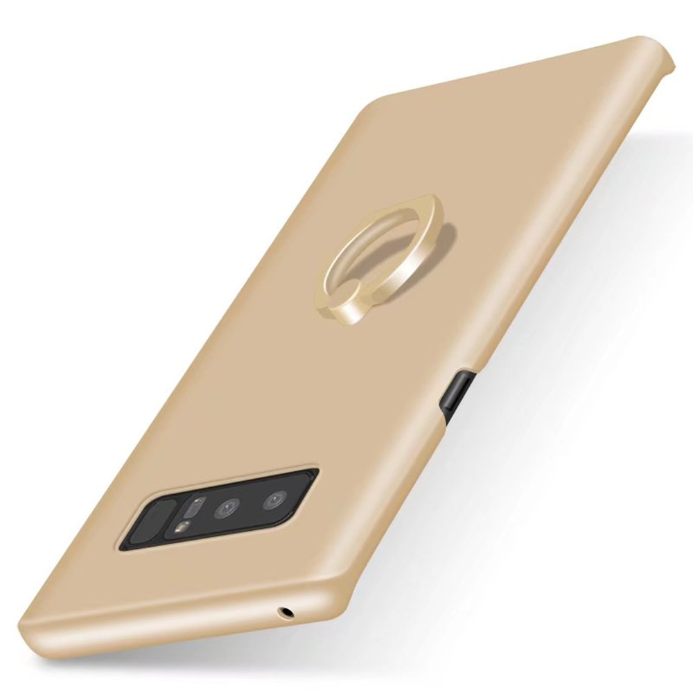 Ring Holder Frosted Back Cover Solid Color Hard PC Case for Samsung Galaxy Note 8