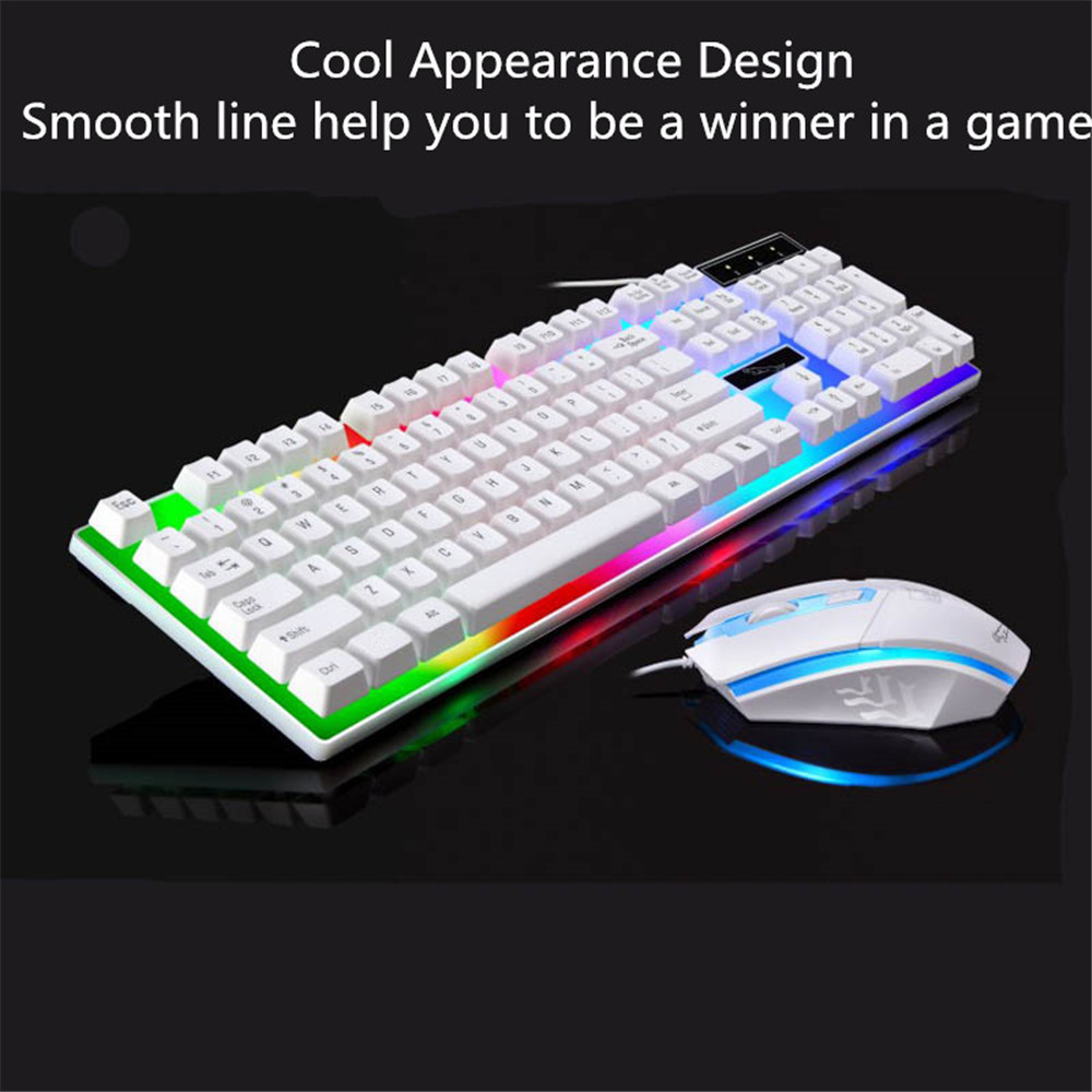 Baldr G21 Led Rainbow Backlight Usb Wired Gaming Keyboard And Mouse Combo