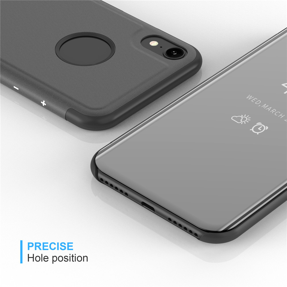Case For Iphone Xr Mirror Flip Leather Clear View Window Smart Cover Baseus Noble Business 5s Deep Blue