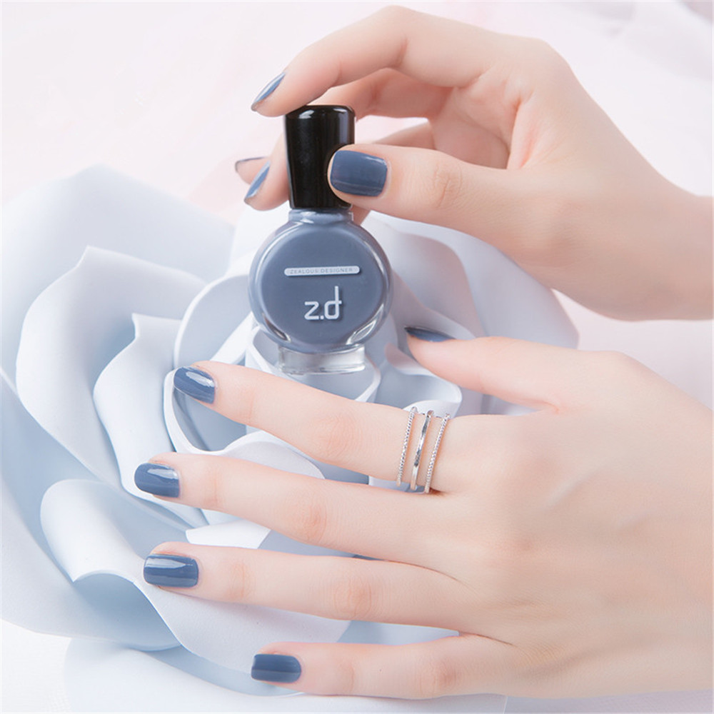 ZD SC2001 Peel Off Gray Color Nail Polish Long Lasting Quicky Dry 15ml