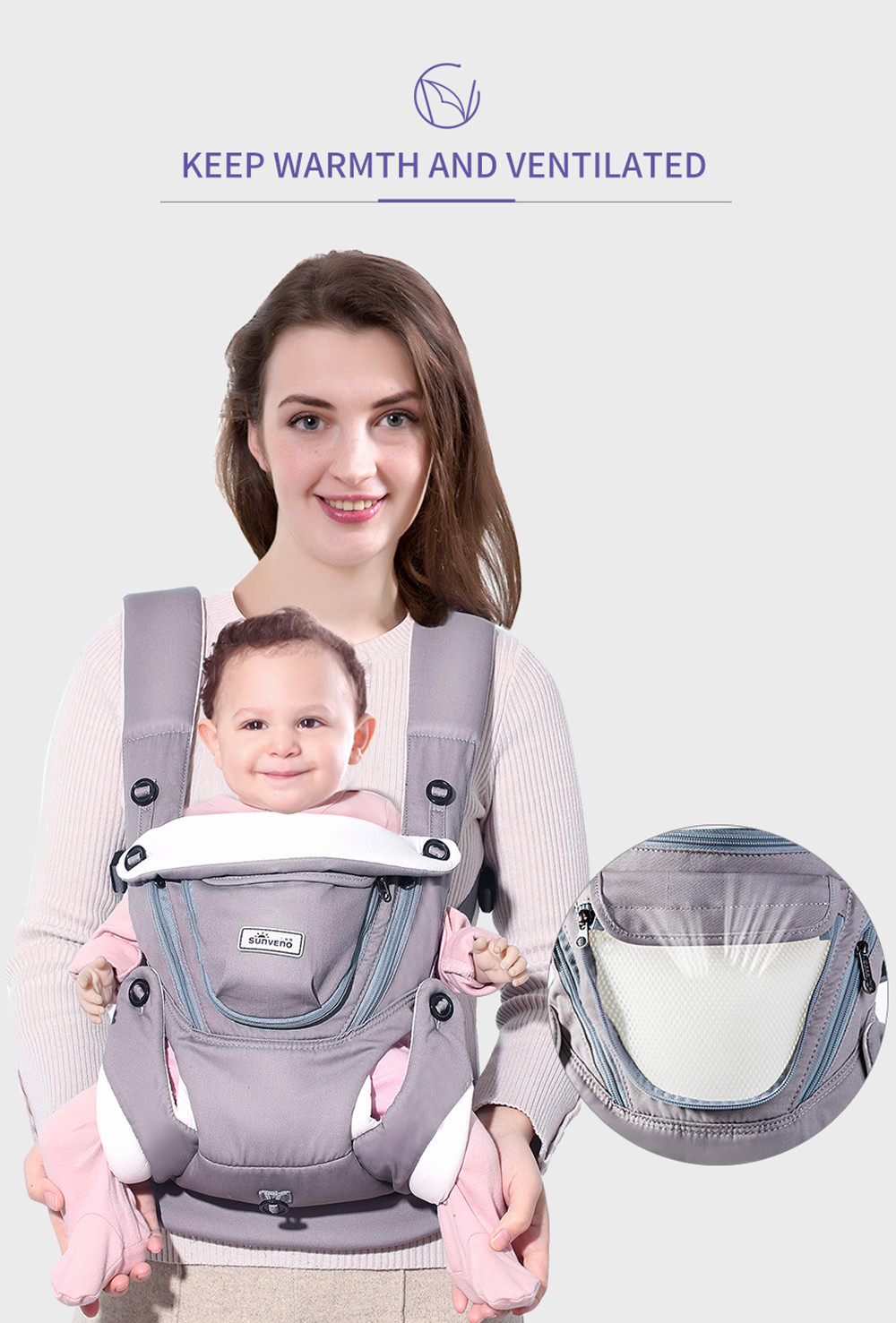 bec707068b75 Taille du paquet (L x P x H)  20.00 x 25.00 x 20.00 cm   7.87 x 9.84 x 7.87  inches. Liste d emballage  1 x Baby Carrier