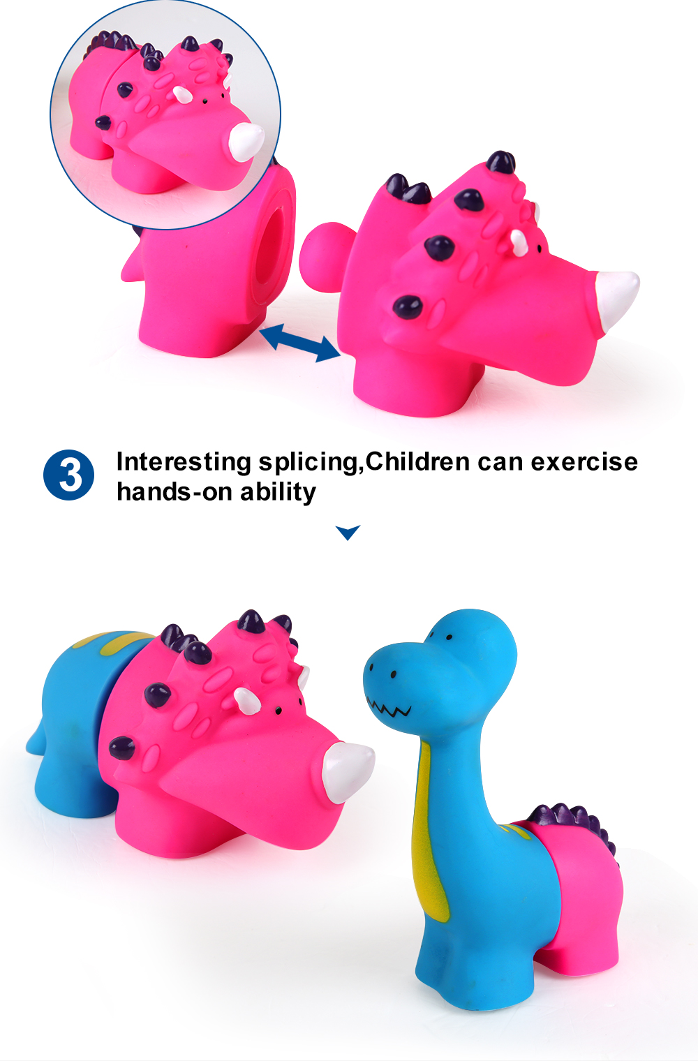 Dinosaur Shaped Soft Building Toy