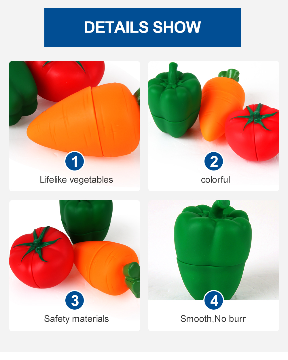 Vegetable Shaped Soft Building Toy 3PCS