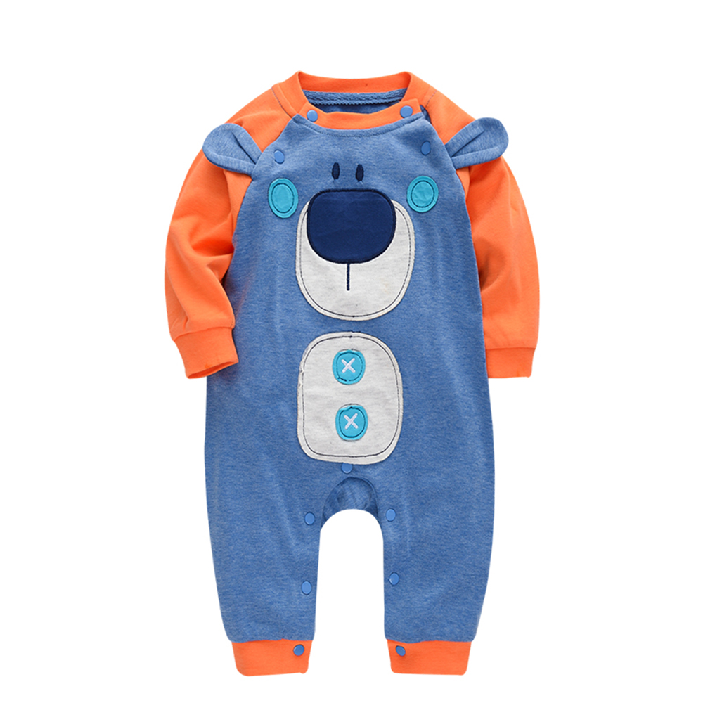 Wuawua Long Sleeve Cotton Baby Romper Size 0-12M