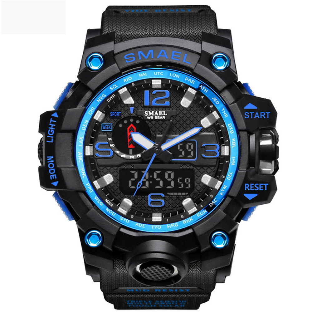 e34000074 Mens Sports Watches LED Digital Clock Fashion Casual Watch Digital 1545  Relogio Militar Clock Men Sport