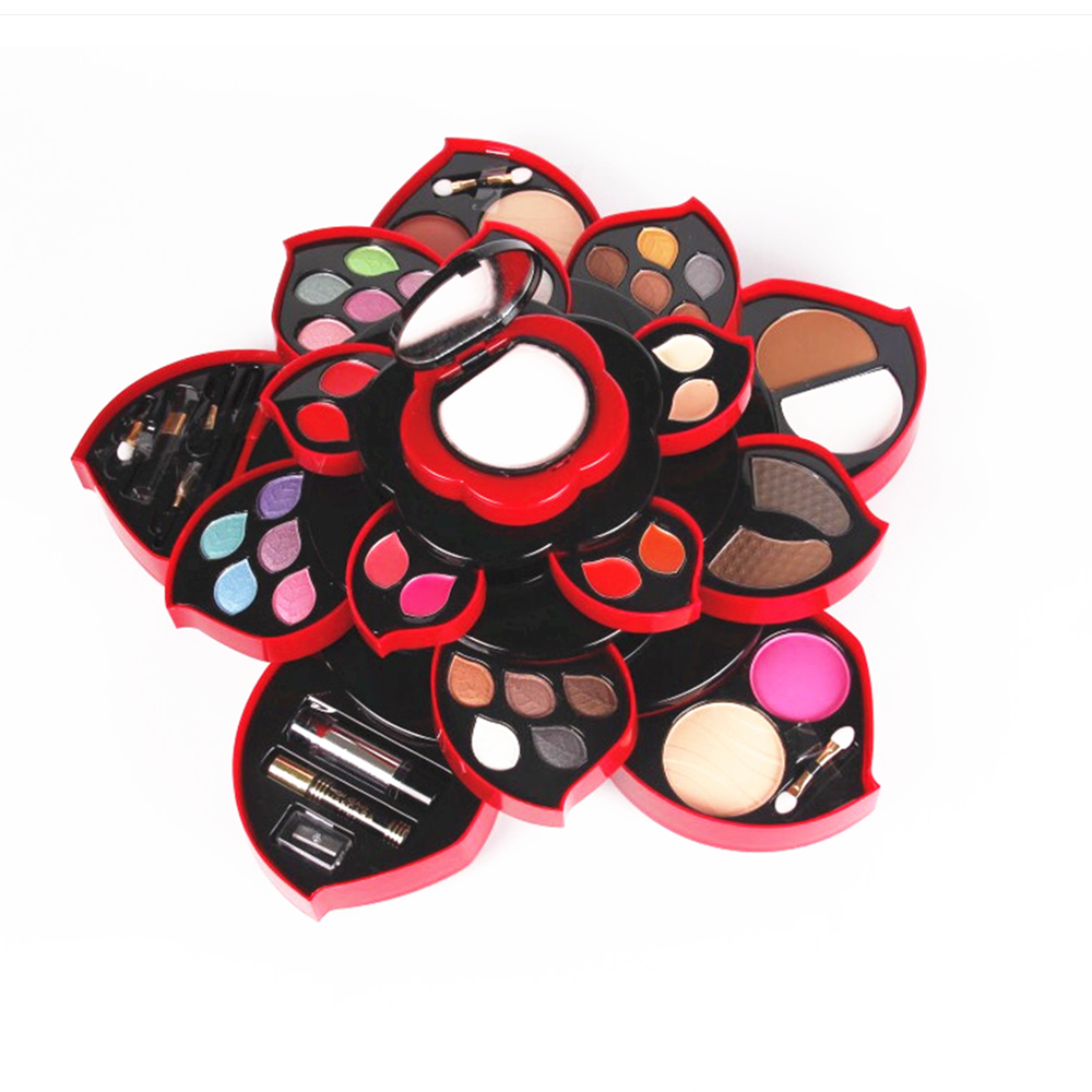 Black Flower Make up Kit Big Flower Matte Shimmer Eyeshadow Blush Multifunctional Cosmetic Kit