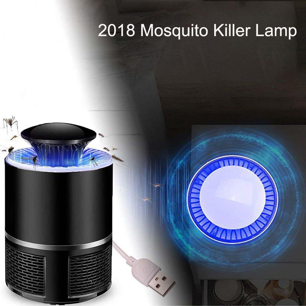 Electric Mosquito Insect Zapper Killer With Led Trap Lamp Usb Swatter Electronics Hobby Powered Black